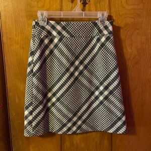 Plaid Ann Taylor pencil skirt